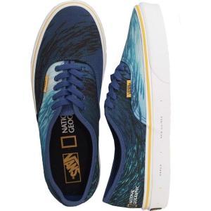 ヴァンズ Vans メンズ スケートボード シューズ・靴 - Authentic (National Geographic) - Shoes blue|fermart-hobby