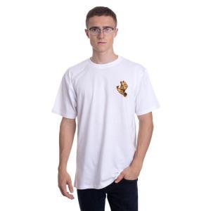 サンタクルーズ Santa Cruz メンズ Tシャツ トップス - Crash Hand White - T-Shirt white|fermart-hobby