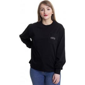 ヴァンズ Vans レディース 長袖Tシャツ トップス - New Varsity Black - Longsleeve black|fermart-hobby