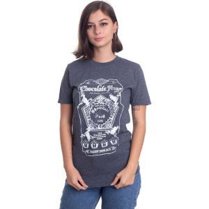インペリコン Impericon レディース Tシャツ トップス - Chocolate Frogs Dark Heather - T-Shirt grey fermart-hobby