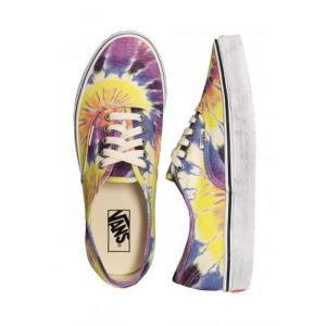 ヴァンズ Vans レディース スケートボード シューズ・靴 - Authentic (Washed) Tie Dye/True White multicolored|fermart-hobby