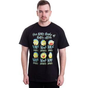 インペリコン Impericon メンズ Tシャツ トップス - Many Moods Of Morty - T-Shirt black fermart-hobby