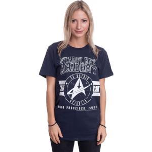 インペリコン Impericon レディース Tシャツ トップス - Starfleet Academy Navy - T-Shirt blue|fermart-hobby