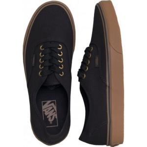 ヴァンズ Vans レディース スケートボード シューズ・靴 - Authentic Black/Rubber black|fermart-hobby