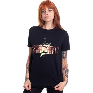 インペリコン Impericon レディース Tシャツ トップス - Shazam Logo - T-Shirt black|fermart-hobby