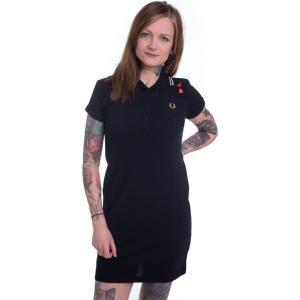 フレッドペリー Fred Perry レディース ワンピース ワンピース・ドレス - Amy Tipped Pique Black - Dress black|fermart-hobby