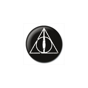 ハリー ポッター Harry Potter グッズ - Deathly Hallows Logo - Button black|fermart-hobby