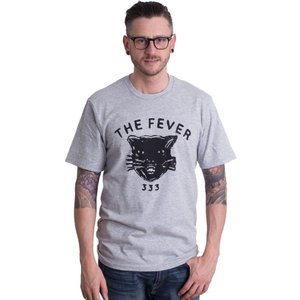 ザ フィーバー333 The Fever 333 メンズ Tシャツ トップス Distressed Black Cat Sportsgrey T-Shirt grey|fermart-hobby