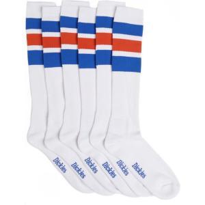 ディッキーズ Dickies ユニセックス ソックス インナー・下着 Atlantic City Pack Of 3 Royal Blue Socks white|fermart-hobby