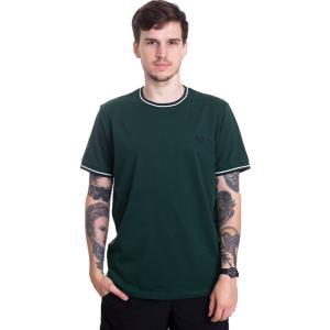 フレッドペリー Fred Perry メンズ Tシャツ トップス - Twin Tipped Ivy - T-Shirt green|fermart-hobby