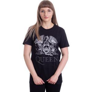 インペリコン Impericon レディース Tシャツ トップス - Crest Logo Diamante - T-Shirt black|fermart-hobby