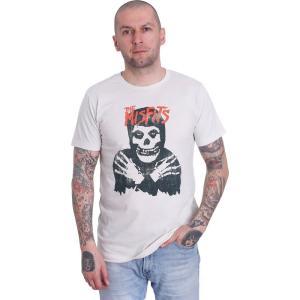 インペリコン Impericon メンズ Tシャツ トップス - Classic Skull Distressed Vintage White - T-Shirt beige|fermart-hobby