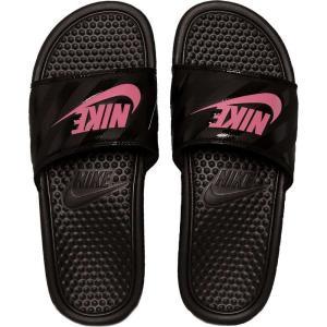 ナイキ Nike レディース サンダル・ミュール シューズ・靴 Benassi Just Do It Black/Vivid Pink/Blac Sandals black|fermart-hobby