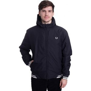 フレッドペリー Fred Perry メンズ ジャケット フード アウター - Padded Hooded Sports Black - Jacket black|fermart-hobby