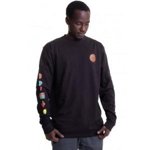 サンタクルーズ Santa Cruz メンズ 長袖Tシャツ トップス - Jackpot Dot Black - Longsleeve black|fermart-hobby