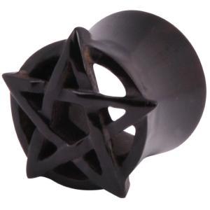 ワイルドキャット Wildcat ユニセックス イヤリング・ピアス ジュエリー・アクセサリー Mysterium Pentagram Black Tunnel black|fermart-hobby