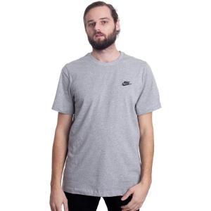 ナイキ Nike メンズ Tシャツ トップス - Sportswear DK Grey Heather/Black - T-Shirt fermart-hobby