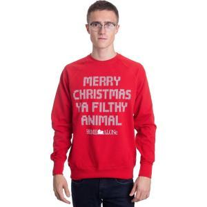 インペリコン Impericon メンズ スウェット・トレーナー トップス - Merry Christmas Ya Filthy Animal Red - Sweater red|fermart-hobby