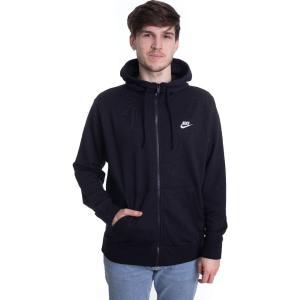 ナイキ Nike メンズ パーカー トップス - Sportswear Club Black/Black/White - Zipper fermart-hobby