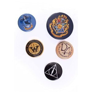 ハリー ポッター Harry Potter グッズ Hogwards Pack Of 5 Button black|fermart-hobby