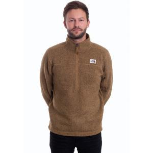 ザ ノースフェイス The North Face メンズ ニット・セーター トップス - Gordon Lyons 1/4 Zip British Khaki Heather - Pullover brown|fermart-hobby