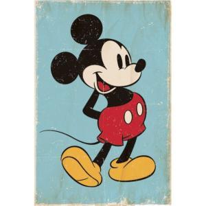 ミッキーマウス Mickey Mouse グッズ Retro Poster multicolored fermart-hobby