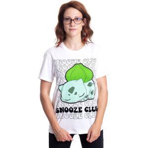 インペリコン Impericon レディース Tシャツ トップス - Bulbasaur Snooze Club White - T-Shirt white|fermart-hobby