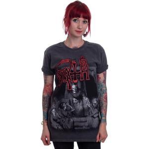 インペリコン Impericon レディース Tシャツ トップス - Scream Bloody Gore Vintage Wash - T-Shirt grey|fermart-hobby