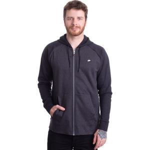 ナイキ Nike メンズ フリース トップス - Sportswear Optic Fleece Black/Heather - Zipper fermart-hobby