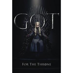 ゲーム オブ スローンズ Game Of Thrones グッズ ポスター - Daenerys For The Throne - Poster black|fermart-hobby