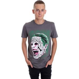 インペリコン Impericon メンズ Tシャツ トップス - Joker Tattooed Face - T-Shirt grey fermart-hobby