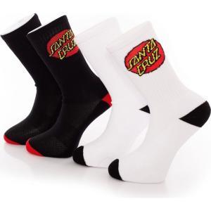 サンタクルーズ Santa Cruz ユニセックス ソックス インナー・下着 Classic Dot Pack Of 2 Assorted Socks multicolored|fermart-hobby