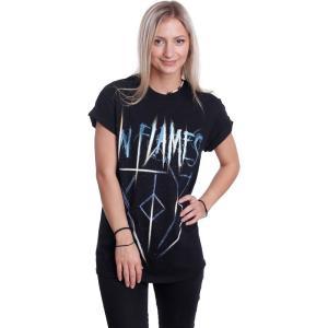 イン フレイムス In Flames レディース Tシャツ トップス Radiant Jesterhead T-Shirt black|fermart-hobby