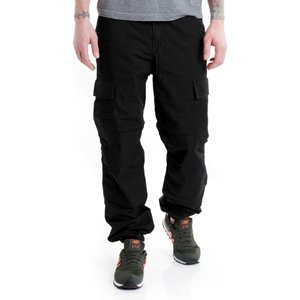 カーハート Carhartt WIP メンズ カーゴパンツ ボトムス・パンツ - Regular Cargo Columbia Ripstop Black Rinsed - Pants black|fermart-hobby
