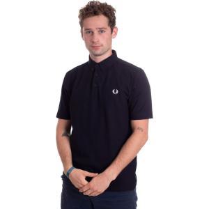 フレッドペリー Fred Perry メンズ ポロシャツ トップス - Button Down Black - Polo black|fermart-hobby