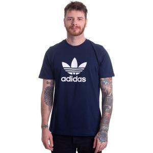 アディダス Adidas メンズ Tシャツ トップス - Trefoil T-Shirt Collegiate Navy - T-Shirt blue|fermart-hobby