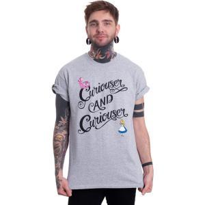 インペリコン Impericon メンズ Tシャツ トップス Disney - Curiouser & Curiouser - T-Shirt black fermart-hobby
