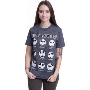 インペリコン Impericon レディース Tシャツ トップス - Have A Good Night Fright Dark Heather - T-Shirt grey|fermart-hobby