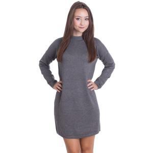 アーバンクラシックス Urban Classics レディース ワンピース ワンピース・ドレス Oversized Turtleneck Grey Dress grey fermart-hobby