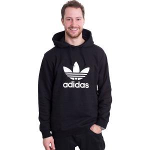 アディダス Adidas メンズ パーカー トップス - Trefoil Black - Hoodie black|fermart-hobby