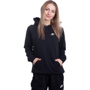ナイキ Nike レディース パーカー トップス - W NSW ESSNTL Hoodie PO FLC Black/White - Hoodie black|fermart-hobby