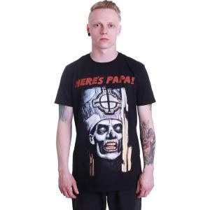 インペリコン Impericon メンズ Tシャツ トップス - Here's Papa - T-Shirt black|fermart-hobby
