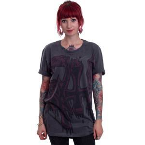 インペリコン Impericon レディース Tシャツ トップス - Red Large Logo Dye Sub - T-Shirt grey|fermart-hobby