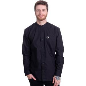 フレッドペリー Fred Perry メンズ ポロシャツ トップス - Grandad Collar Black - Polo black|fermart-hobby
