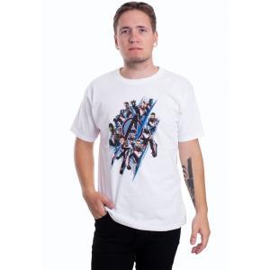 インペリコン Impericon メンズ Tシャツ トップス - Diagonal Logo & Characters White - T-Shirt white fermart-hobby