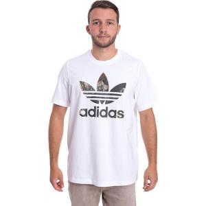 アディダス Adidas メンズ Tシャツ トップス - Camo TRF White - T-Shirt white|fermart-hobby