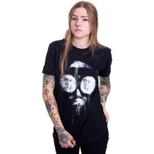 インペリコン Impericon レディース Tシャツ トップス - Inked Mask - T-Shirt black|fermart-hobby