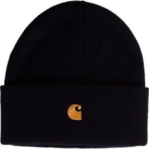 カーハート Carhartt WIP ユニセックス ニット ビーニー 帽子 - Chase Black/Gold - Beanie black|fermart-hobby