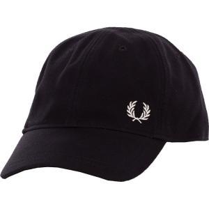 フレッドペリー Fred Perry ユニセックス キャップ 帽子 Pique Classic Black Cap black|fermart-hobby