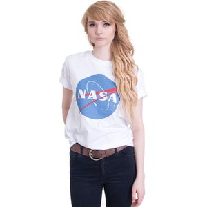 NASA レディース Tシャツ トップス Insignia White T-Shirt white|fermart-hobby